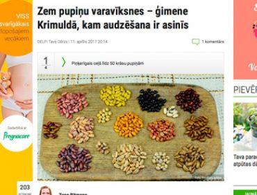 Zem pupiņu varavīksnes – ģimene Krimuldā, kam audzēšana ir asinīs