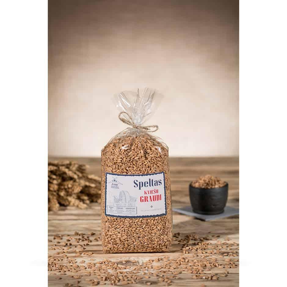 Speltas kviešu graudi